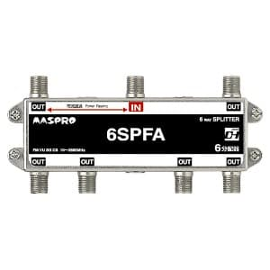 マスプロ 【生産完了品】6分配器 屋内用 1端子電流通過型 6SPFA-P