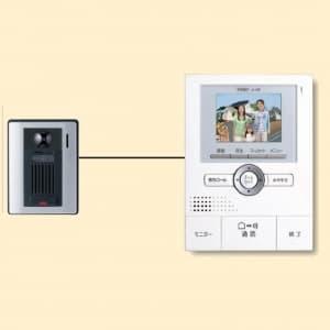 アイホン 【生産完了品】カラーテレビドアホン セット(カメラ付玄関子機とモニター付親機各1台のセット) ROCOワイド JHS-1AE-T