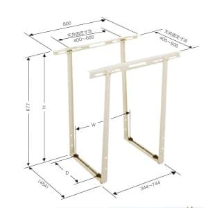 日晴金属 クーラーキャッチャー 天井吊用 ZAM®+粉体塗装 C-DG3