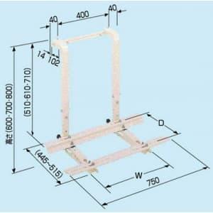 日晴金属 クーラーキャッチャー 窓掛用 ZAM®+粉体塗装 C-MKG