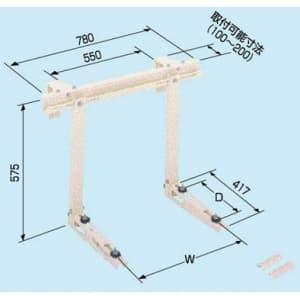 日晴金属 クーラーキャッチャー コンクリート手すり掛用 ZAM®+粉体塗装 C-CKG