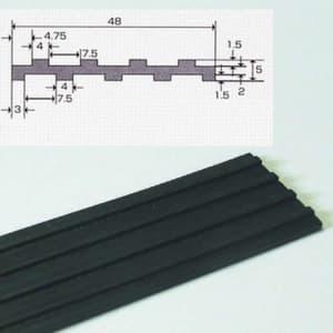 フソー化成 防振ゴム 1m ブラック FBG-50