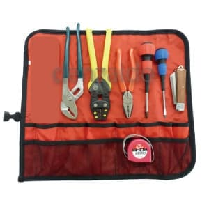 マーベル 【生産完了品】電気工事士 技能試験工具セット 標準工具7点セット 巻き式タイプ MDK-17SM