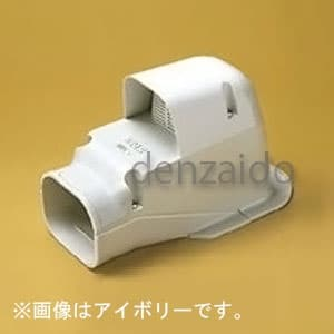 バクマ工業 ウォールコーナー 換気式エアコン用 壁面取り出し用 7型 ホワイト 《スマートダクト ADシリーズ》 AWK-7-W