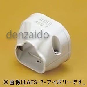バクマ工業 端末カバー 機器接続部用 6型 ホワイト 《スマートダクト ADシリーズ》 AES-6-W
