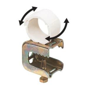 未来工業 PF管クリップ H・L形鋼用 電気亜鉛めっき仕様 適合寸法:鋼材厚3〜16mm 適合管:PF管16 SGKM-16F