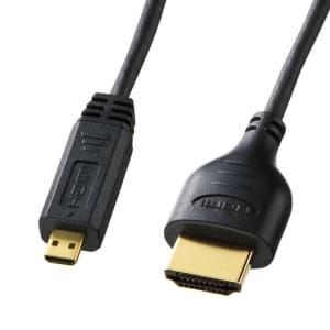 サンワサプライ 【生産完了品】イーサネット対応ハイスピードHDMIマイクロケーブル 長さ:2m ブラック KM-HD23-20