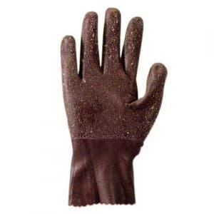 勝星産業 天然ゴム作業グローブ オールコート 薄手タイプ サイズ:LL 茶 #840LL