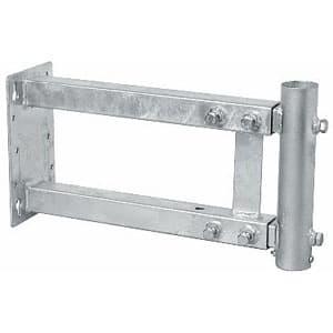 サン電子 側面取付金具(軒下金具) 伸縮型 中間および底用兼用型 マスト径φ22〜32用 MSH-500Z