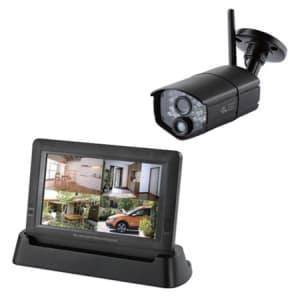 日本アンテナ 【生産完了品】HDワイヤレスセキュリティーカメラ 充電式モニターセット《ドコでもeye Security》 SC03ST