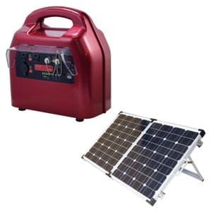 ジェフコム 【生産完了品】ポータブルハイブリット蓄電器 ソーラーセット 2way充電、出力 PC-300HYB-SET