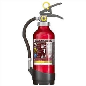 モリタ宮田工業 アルミ製蓄圧式粉末ABC消火器 《アルテシモ》 業務用 4型 総質量約2.0kg リサイクルシール付 MEA4リサイクルシールツキ