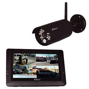 キャロットシステムズ ハイビジョン無線カメラ&モニターセット 高画質92万画素 microSDカード録画 IP66相当 天井・壁面取付 AT-8801