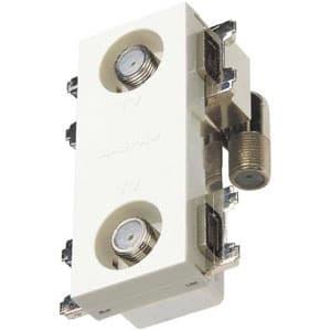 マスプロ 直列ユニット 2端子型 テレビ端子 4K・8K衛星放送対応 壁面埋込・シールド型 上 り帯域カットフィルタースイッチ付 2DWKT-SW-B