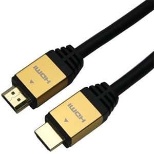 ホーリック ハイスピードHDMIケーブル イーサネットチャンネル(HEC)対応 長さ2.0m ゴールド HDM20-883GD