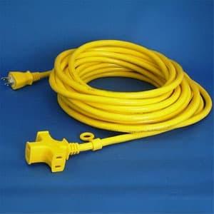 正和電工 トライアングルマルチタップ延長コード 3個口 10m 黄 VCTM-10YE