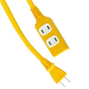 正和電工 ダブルコンストラクションマルチタップ延長コード 3個口 10m 黄 SWM-10YE