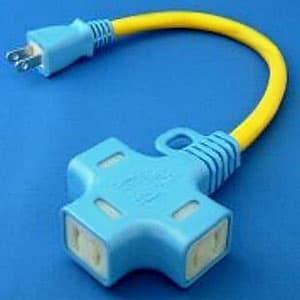 正和電工 抜け止めマルチタップ延長コード 十字タイプ 3個口 0.3m ND-03
