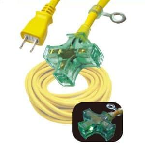 正和電工 ピカマルチ 延長コード 3個口 10m 黄 PM-10Y