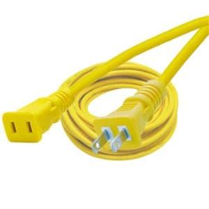 正和電工 15A補助コード 1個口 2芯タイプ 10m 黄 GA-10