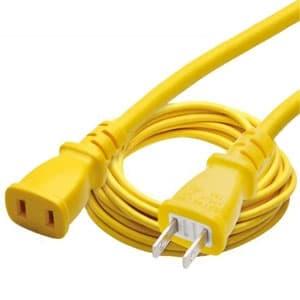 正和電工 12A補助コード 1個口 2芯タイプ 10m 黄 HW-10Y