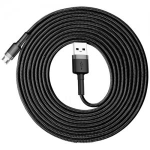 電材堂 【生産完了品】USBケーブル USB〜MicroUSB 長さ3m グレーブラック DCAMKLFHG1