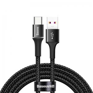 電材堂 【生産完了品】USBケーブル 急速充電タイプ USB〜Type-C 長さ2m ブラック DCATGHH01