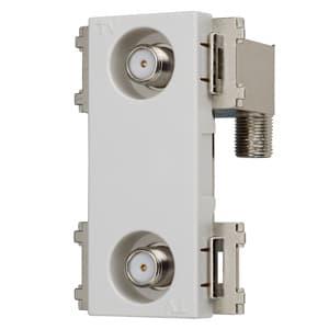 サン電子 【生産完了品】2端子型テレビ端子 HPF内蔵 全端子電流カット型 CSF-77W-HPB