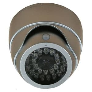 マザーツール 【生産完了品】ドーム型ダミーカメラ 人感センサー白色LED搭載 天井取付タイプ DC-007SL