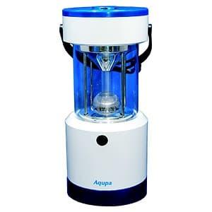 日本協能電子 【生産完了品】LEDランタン LED×8灯 連続点灯約120時間 パワーバー付 高さ253mm 《Aqupaランプ》 白/紺 LP-250