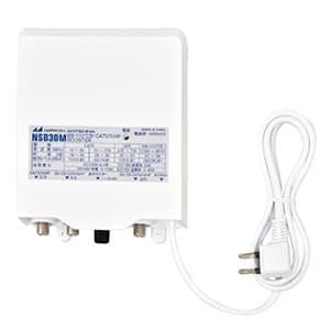 日本アンテナ 【生産完了品】電源着脱型ブースター 2.6GHz対応 適合マスト径φ22〜50mm 地上・BS・110°CSデジタル放送対応 出力モニター端子付 NSB30M