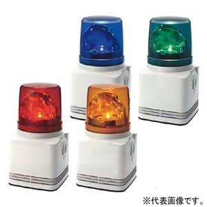 パトライト LED回転灯付電子音報知器 《シグナルホン》 定格電圧AC100V 最大90dB φ100mm 32音色内蔵(Aタイプ) 赤 RFT-100A-R