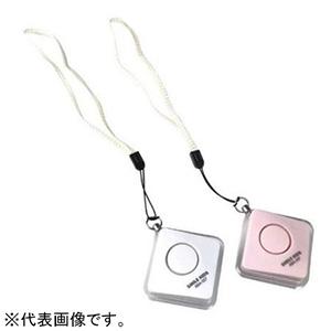 旭電機化成 ひっぱりやすい防犯ブザー 電池式 音量90dB ストラップ付 ホワイト ABA-507WH