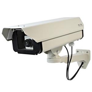 オンスクエア 防犯ダミーカメラ 屋外ハウジング型 ロングサイズタイプ 電池式 屋外防雨仕様 赤色LED×1灯 OS-160