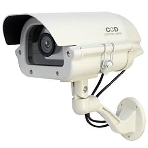 オンスクエア 防犯ダミーカメラ 屋外ハウジング型 電池式 屋外防雨仕様 赤色LED×1灯 OS-161