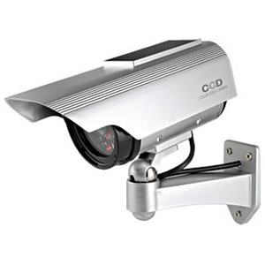 オンスクエア 防犯ダミーカメラ ソーラー充電式 軒下防滴仕様 赤色LED×1灯 赤外線暗視タイプ OS-163
