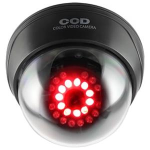 オンスクエア 防犯ダミーカメラ ドーム型 赤色LED×11灯 明暗センサー搭載 赤外線暗視タイプ 天井設置タイプ OS-168R