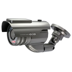 オンスクエア 防犯ダミーカメラ バレット型 ソーラー充電式 軒下防滴仕様 赤色LED×1灯 赤外線暗視タイプ OS-175G