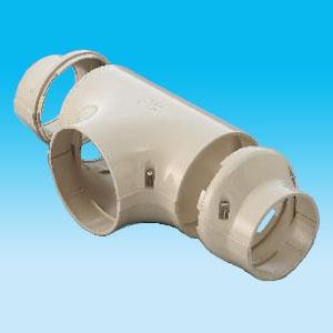 因幡電工 T型ジョイント 分岐用 140サイズ 配管化粧カバー ビル設備用 《スリムダクトPD》 異径アダプター2個付 PDT-140-I