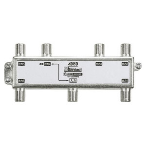 Abaniact TV分配器 6分配器 4K・8K対応 入力・出力1端子間通電タイプ AV-D6MS-00