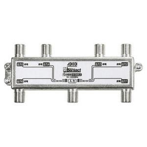 Abaniact TV分配器 6分配器 4K・8K対応 全端子通電タイプ DC専用 AV-D6MLS-00