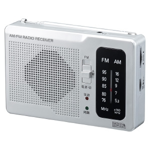 ヤザワ 【生産完了品】長寿命AM・FM卓上ラジオ アナログ方式 モノラルイヤホン付 シルバー RD32SV