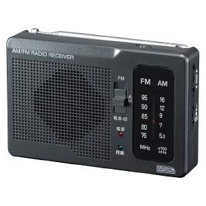 ヤザワ 【生産完了品】長寿命AM・FM卓上ラジオ アナログ方式 モノラルイヤホン付 ブラック RD32BK