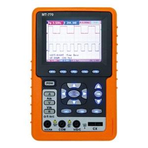 マザーツール デジタルハンディオシロスコープ フルカラーハンディタイプ 2現象オシロ+4000カウントDMM 周波数帯域20MHz MT-770