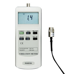 マザーツール デジタル振動計 振動速度(mm/s)・加速度(m/s2)測定 磁気ベース付きプローブ付 VB-8201HA