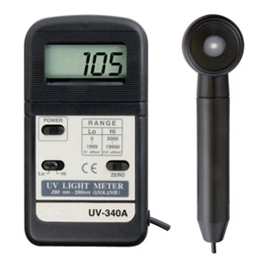 マザーツール デジタル紫外線強度計 軽量・小型ハンディタイプ セパレートタイプセンサ 測定波形290〜390nm UV-340A