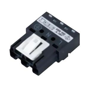 ネグロス電工 コネクタプラグ 《ネグレッツ®ウェイ》 銅線1.6・2.0mm用 ブラック LWGCP3J1