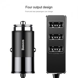 電材堂 カーチャージャー USB4ポート 出力最大5.5A ブラック DCCTON-01