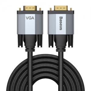 電材堂 【在庫限り】ディスプレイケーブル 《Enjoymentシリーズ》 VGAオス-VGAオス 長さ3m ダークグレー DCAKSX-V0G
