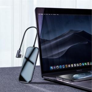 電材堂 USBハブアダプター Type-C用 USB3.0×3+HD4K+SD/microSD+PD ディープグレー DCAHUB-CZ0G